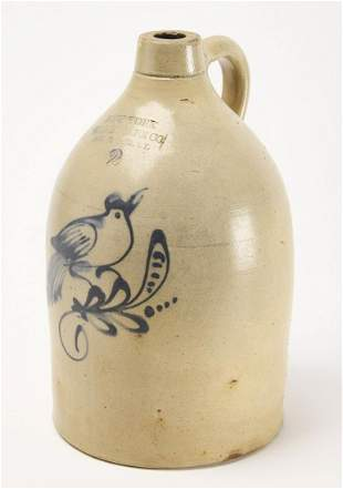 Stoneware Jug with Bird