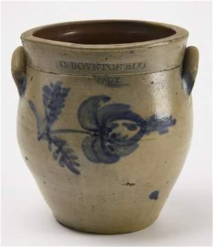 C. Boynton & Co Stoneware Jar