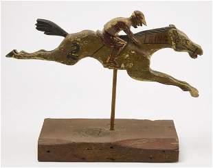 Carved Folk Art Carnival Race Horse