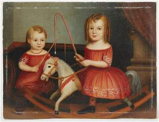 Miniature Portrait of Children on Panel