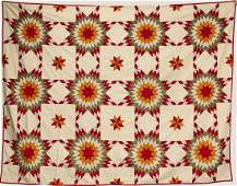 Star Quilt with Basket Quilt Top