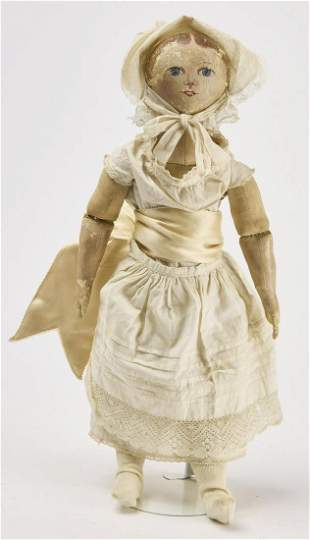 Early Painted Face Cloth Doll