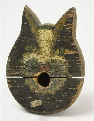 Folk Art Cat Birdhouse