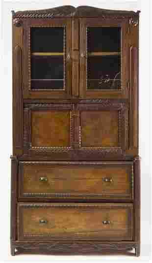 Folk Art Carved Cupboard
