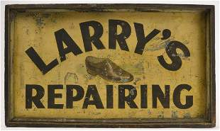 Larry's Repairing Two Sided Sign