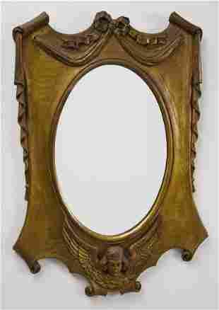 Carved Art Nouveau Mirror