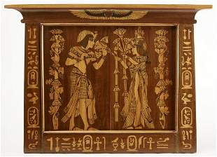Egyptian Revival Inlaid Panel