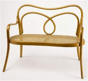 Thonet Child's Bentwood & Cane Settee