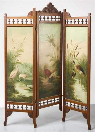 Carved and Painted Eastlake Screen