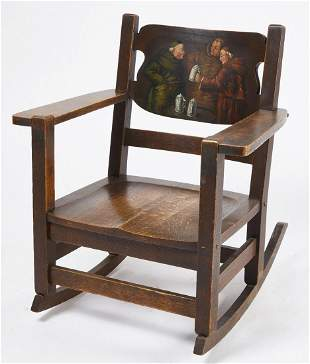 Harden Arts and Crafts Armchair with Painted Splat