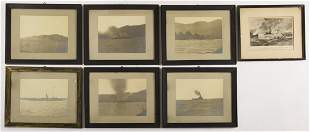 Lot of 7 Military Ship Photos & Chest