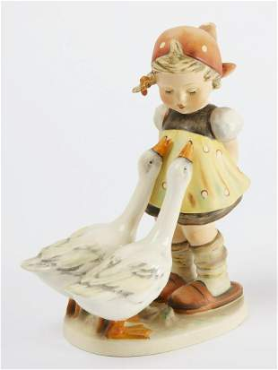 Large Hummel - Girl with Geese