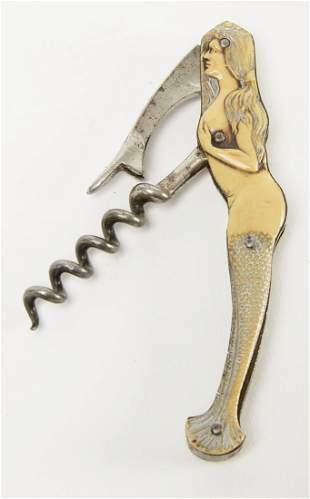 Fine Mermaid Corkscrew and Bottle Opener