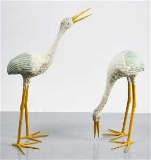 Pair of Cast Iron Yard Birds