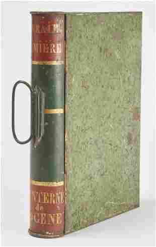 Tin Book Shaped Lantern
