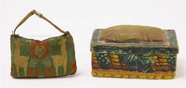 Pin Cushion Wallpaper Box and Early Pin Cushion