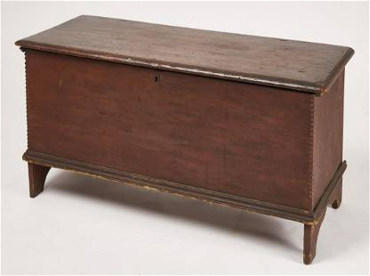 Early Red Blanket Chest