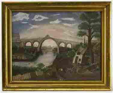Folk Art Sandpaper Painting