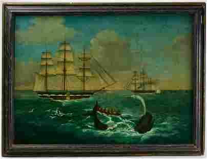 Folk Art Whaling Painting