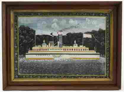 """Portrait of the Boat """"Wiehawken"""""""