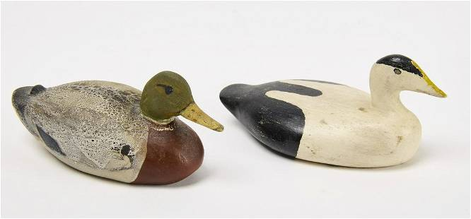 Two Miniature Carved Decoys