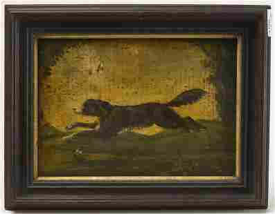 Early Primitive Painting of a Dog