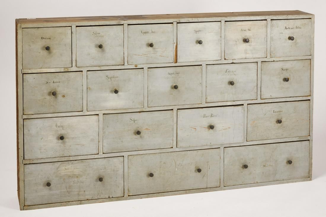 New England Painted Apothecary Chest