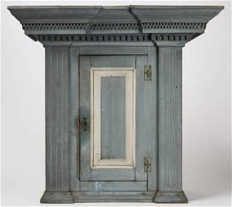 Fine 18th Century Blue Hanging Cupboard