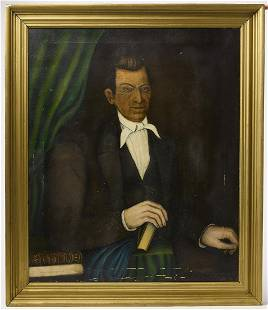Folk Art Portrait of a Man
