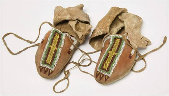 Native Plains Beaded Moccasins