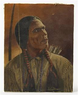 Native American Painting-Chief Yowlatehi