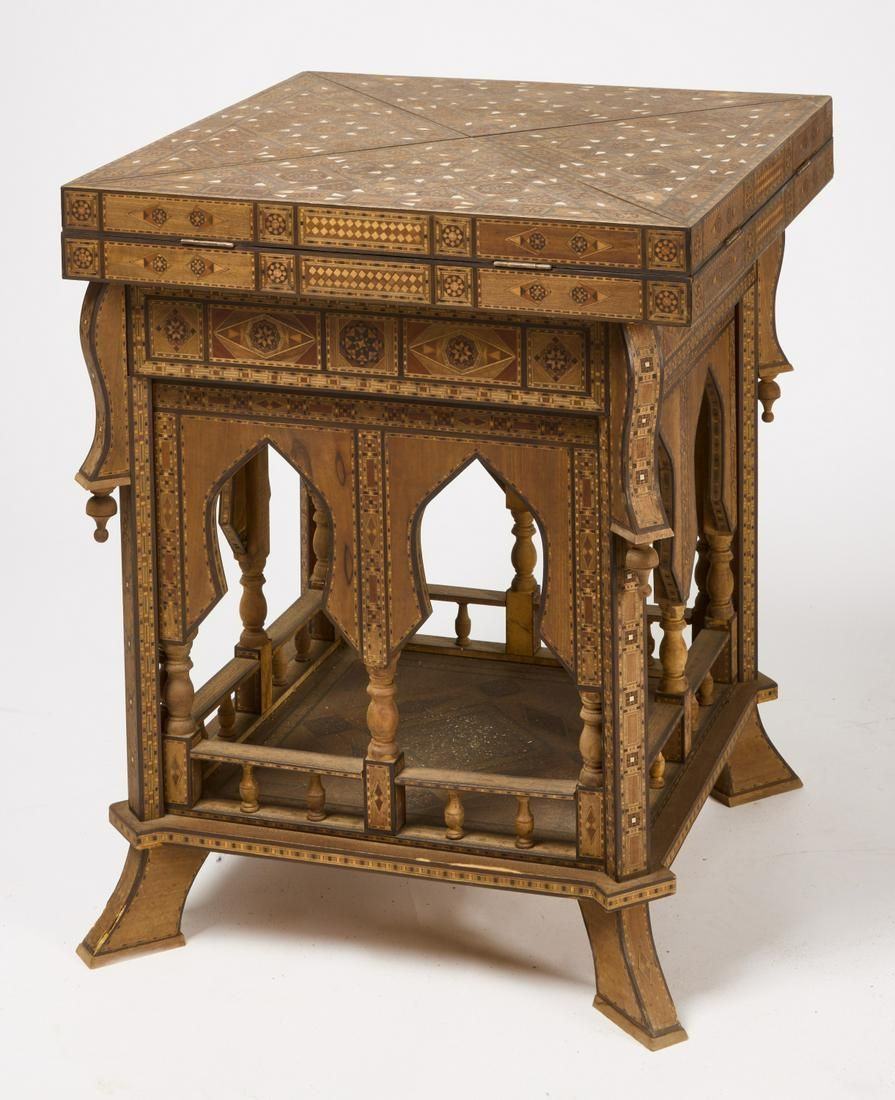 Anglo Indian Inlaid Game Table