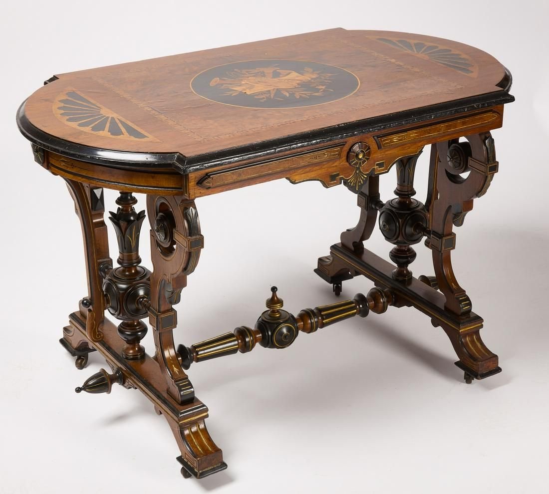 Victorian Inlaid Center Table