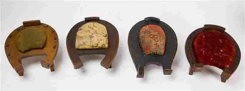 4 Horse Shoe Footstools