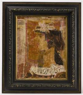 Abstract Profile Portrait Painting 1960