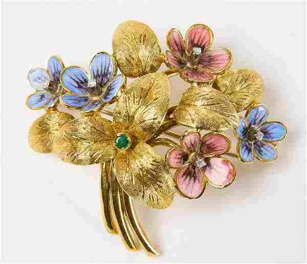 18K Gold Cartier Brooch/Pin
