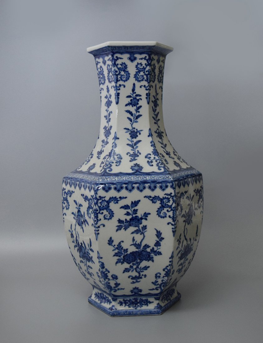 A Blue And White Vase, Qing Dynasty