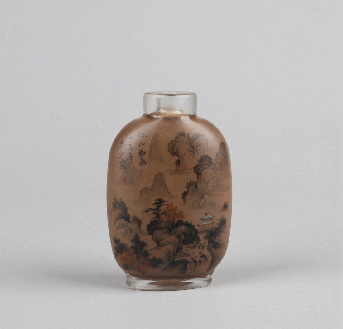 An Inside Painted Glass Snuff Bottle,