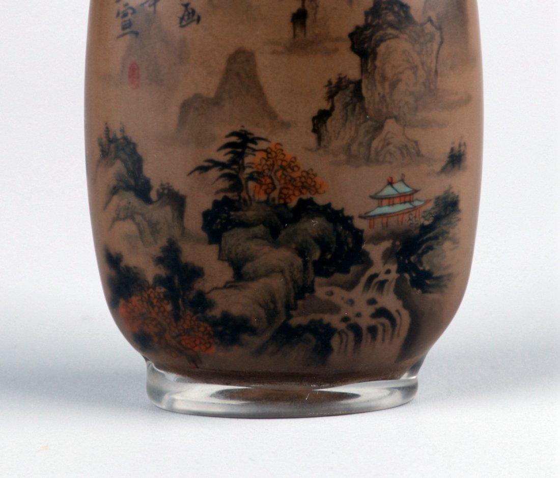An Inside Painted Glass Snuff Bottle, - 8