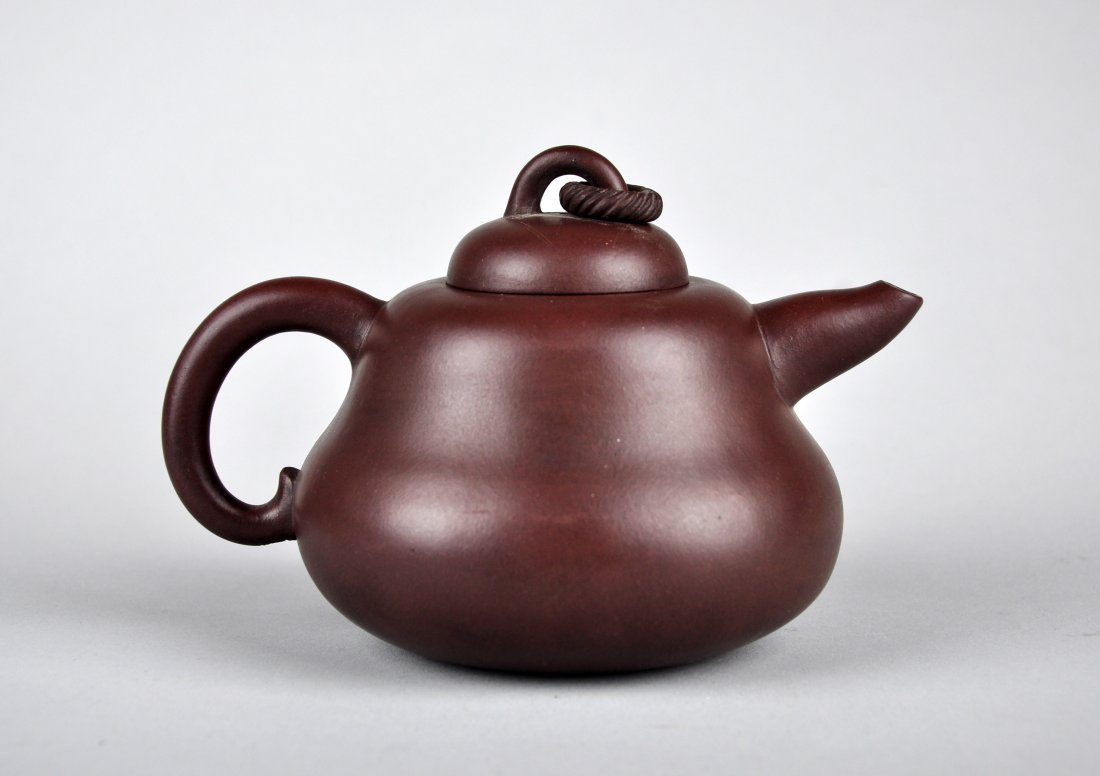 A Clay Tea Pot with 'A Man Tuo Shi' Mark, Qing Dynasty - 5