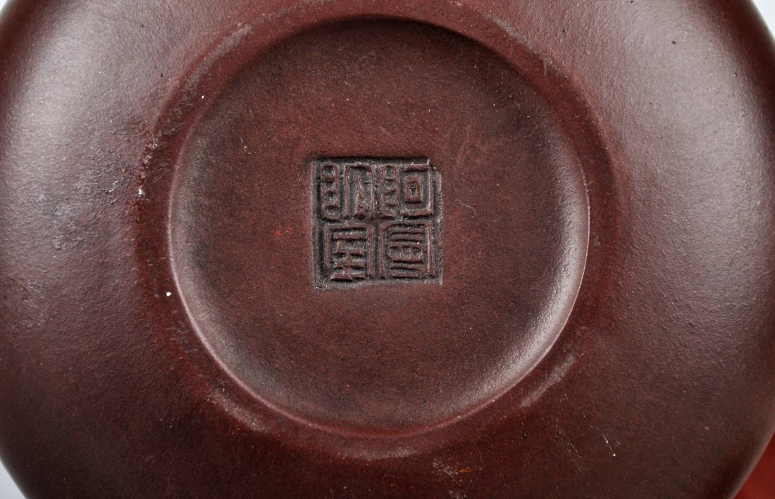 A Clay Tea Pot with 'A Man Tuo Shi' Mark, Qing Dynasty - 7