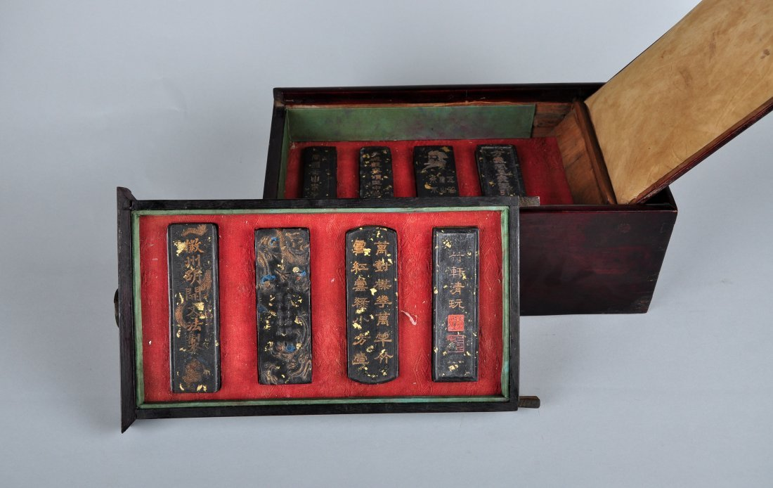 A Pack of 8-Piece Vintage inkcake with Original Box