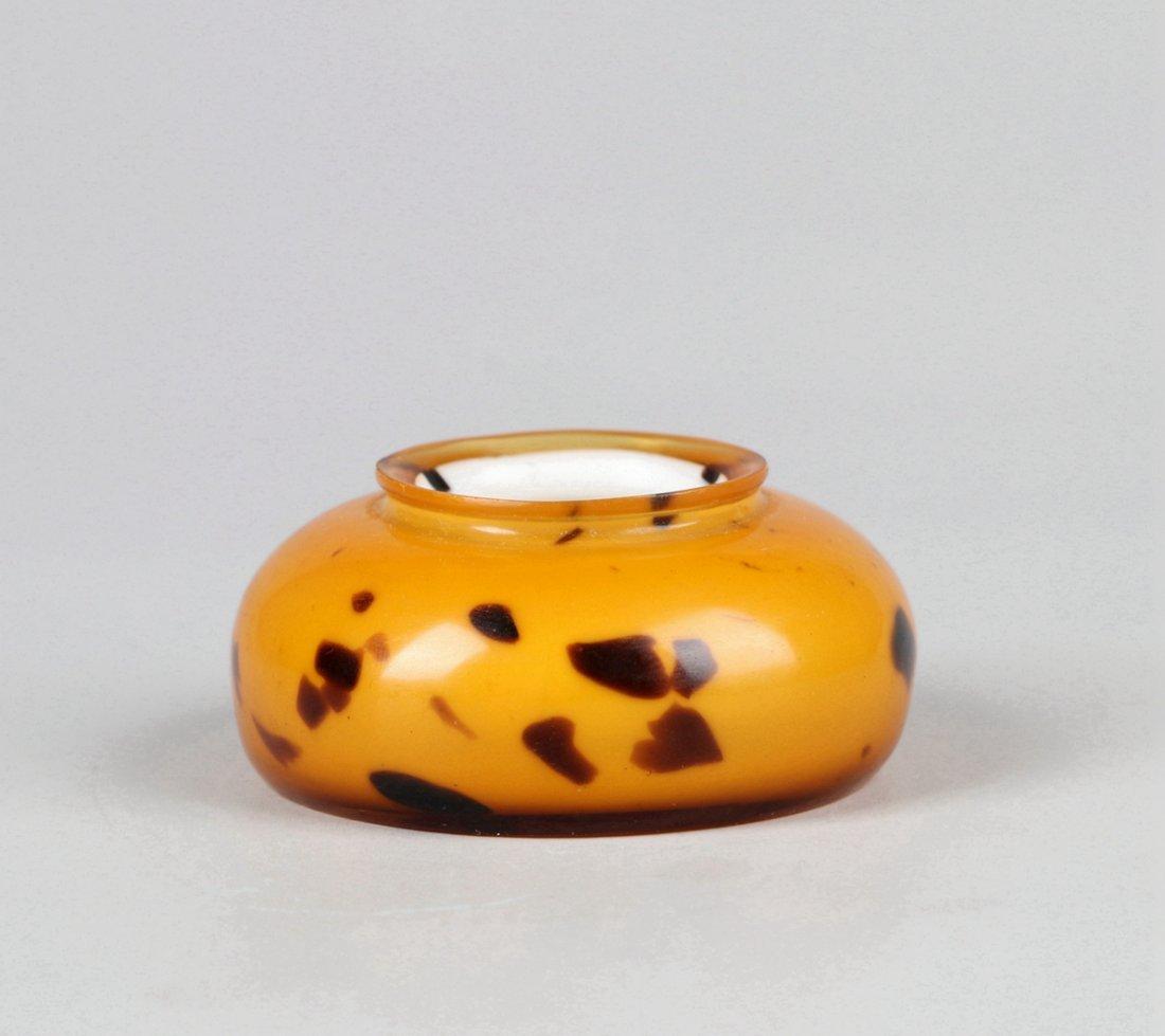 A Glass Imitating Tortoise Shell Water Pot Qing Dynasty