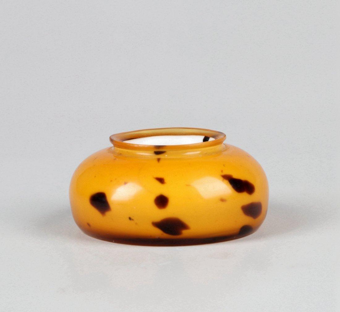 A Glass Imitating Tortoise Shell Water Pot Qing Dynasty - 2