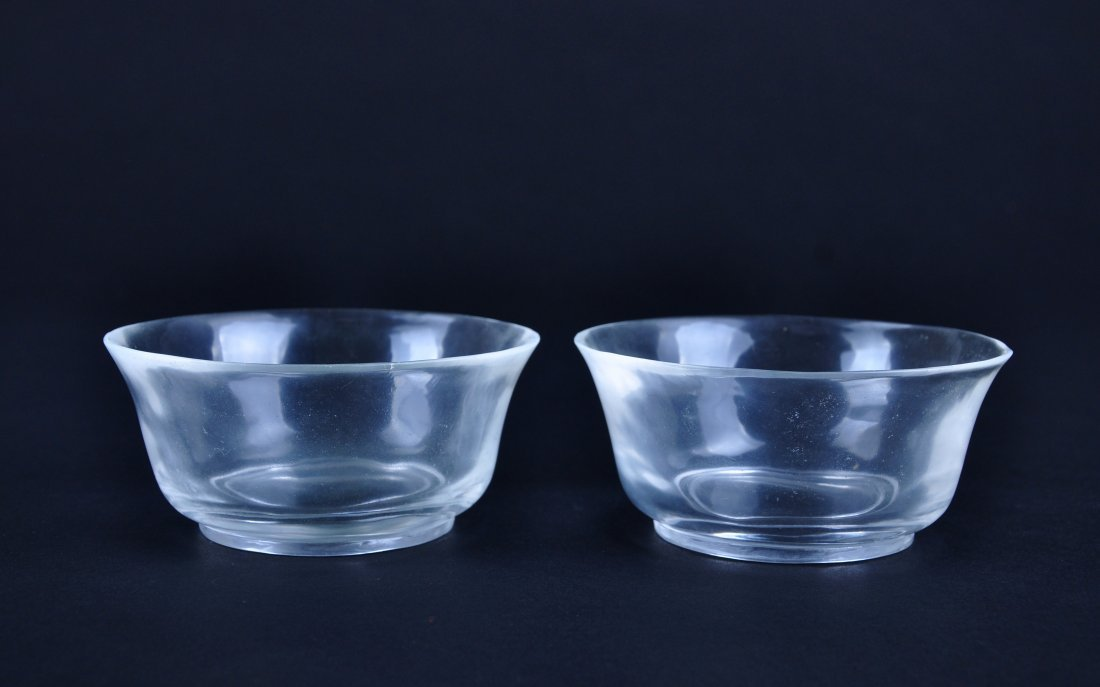 A Pair of Crystal Bowls, Qing Dynasty - 2
