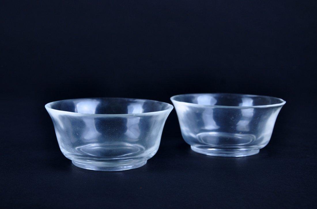 A Pair of Crystal Bowls, Qing Dynasty - 3
