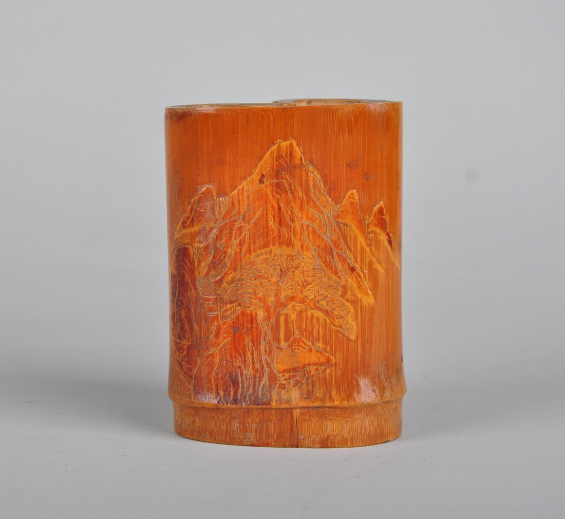 A Bamboo Brush Pot, Qing Dynasty