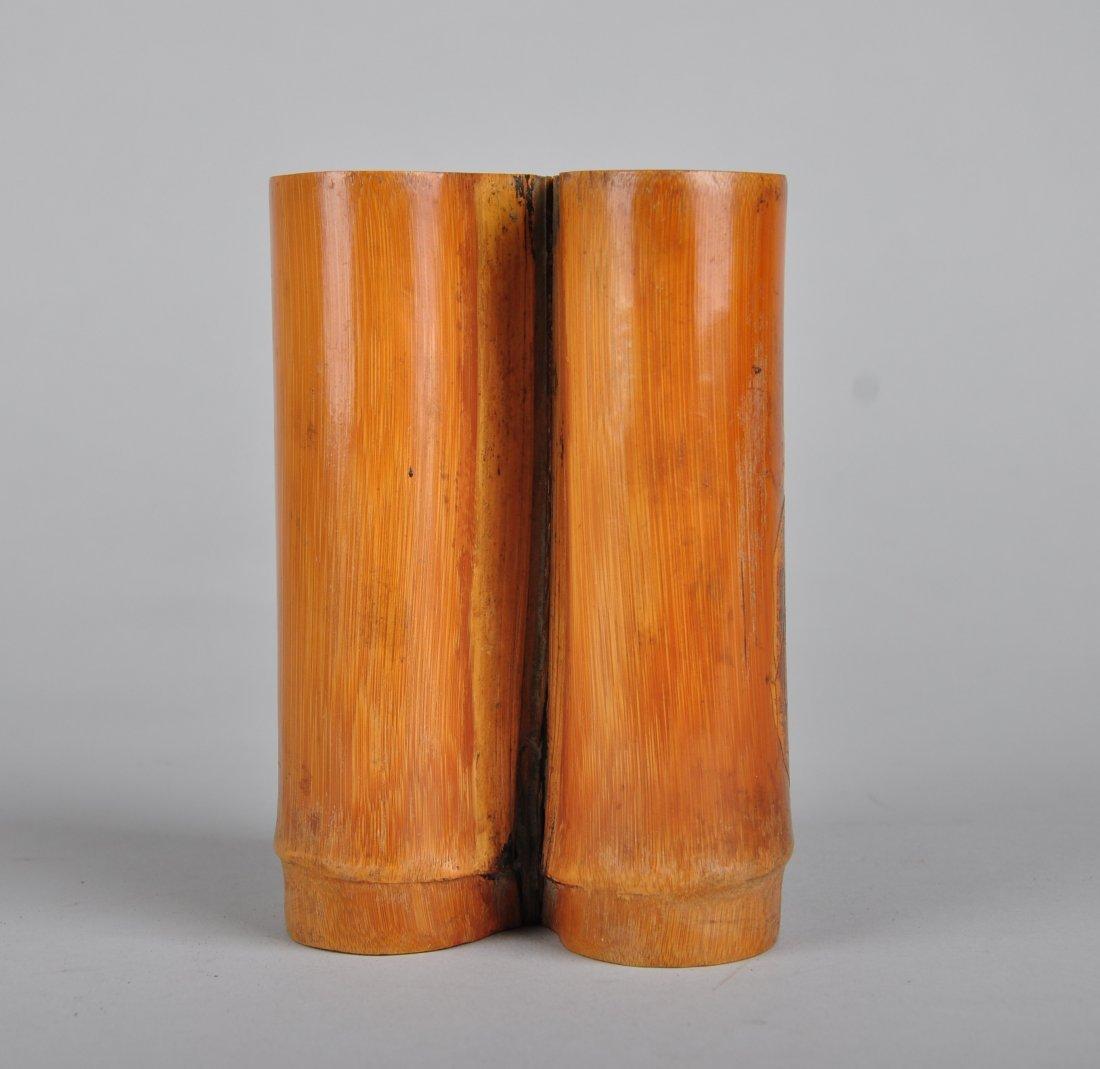 A Bamboo Brush Pot, Qing Dynasty - 3