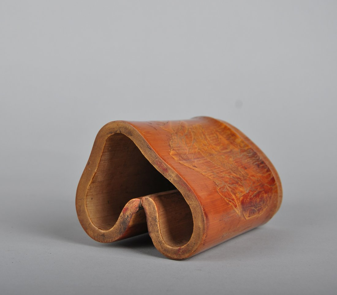 A Bamboo Brush Pot, Qing Dynasty - 4