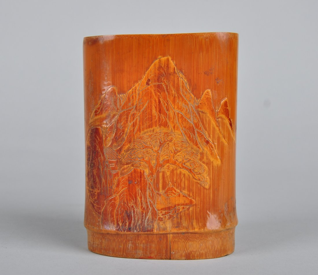 A Bamboo Brush Pot, Qing Dynasty - 6